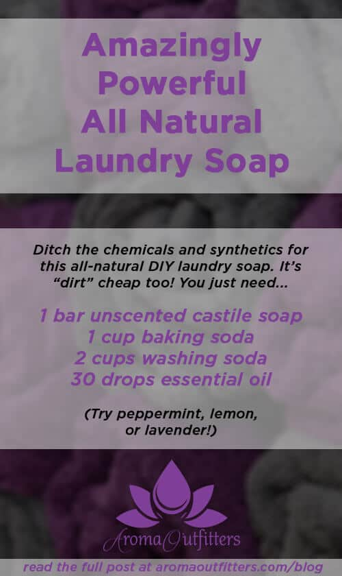 how to make essential oil laundry soap